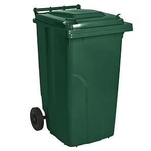 Контейнер для мусора 240 литров бак на колесах зеленый емкость Тип А 200 250 300, фото 2