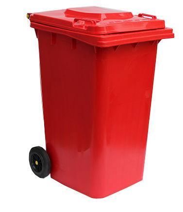 Контейнер для мусора 240 литров бак на колесах красный емкость Тип В 200 250 300