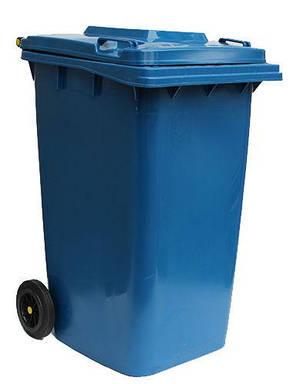 Контейнер для мусора 240 литров бак на колесах синий емкость Тип В 200 250 300, фото 2