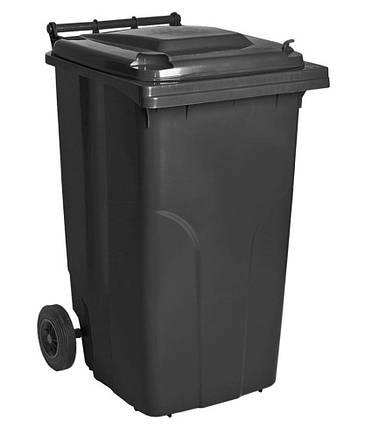 Контейнер для мусора 240 литров бак на колесах серый емкость Тип А 200 250 300, фото 2