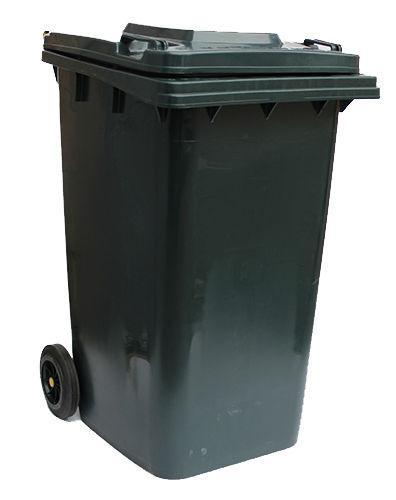 Контейнер для мусора 240 литров бак на колесах черный емкость Тип В 200 250 300