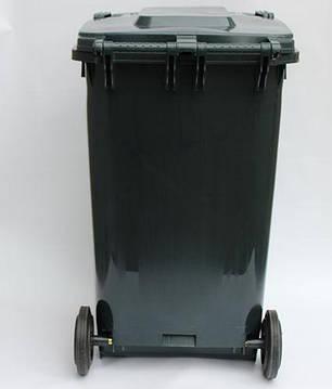 Контейнер для мусора 240 литров бак на колесах черный емкость Тип В 200 250 300, фото 2
