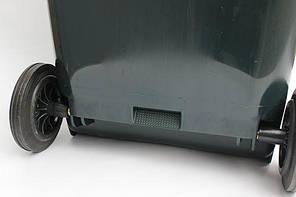 Контейнер для мусора 240 литров бак на колесах черный емкость Тип В 200 250 300, фото 3
