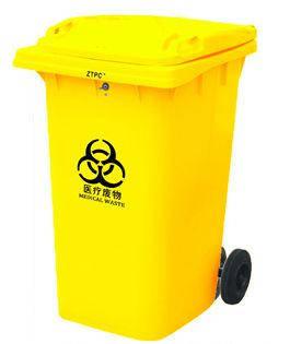 Контейнер для мусора 360 литров желтый на колесах бак емкость 300 350 400, фото 2