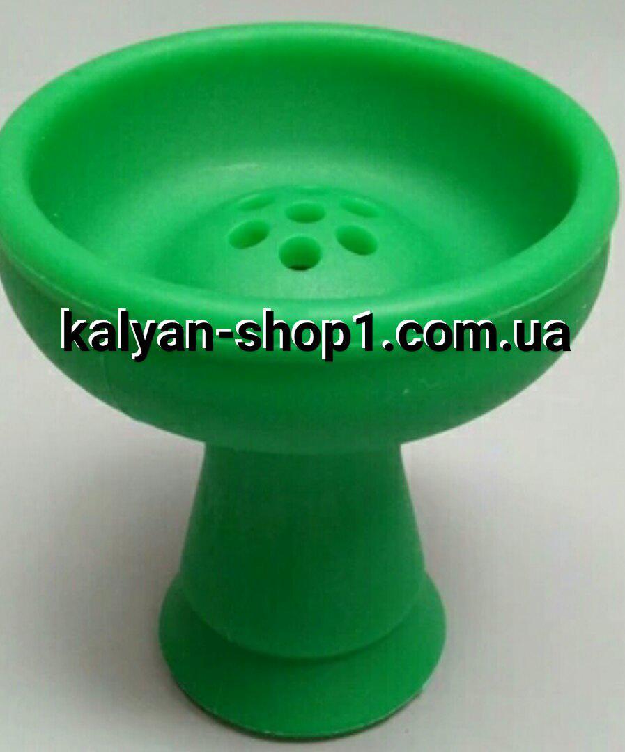 Силиконовая чаша  для кальяна  Эми Amy  зеленого цвета  под Калауд лотос
