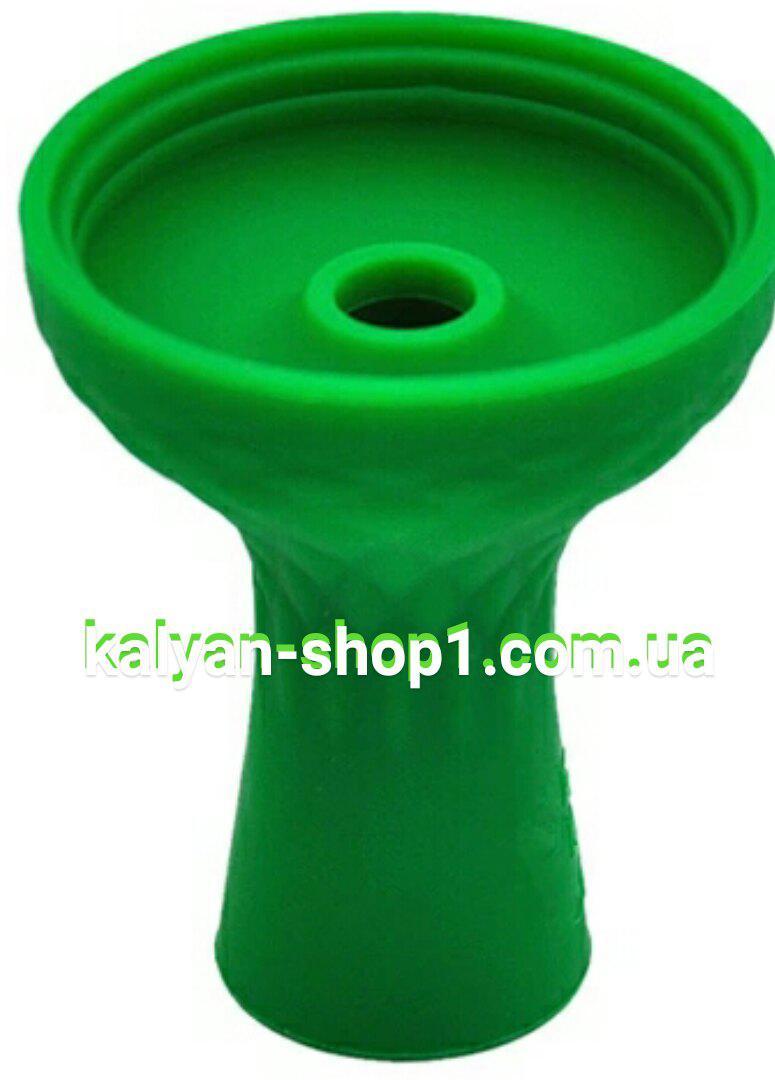 Силиконовая чаша для кальяна Самсарис фанел цвет зеленыйй.под Kaloud Lotus калауд