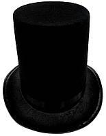 Шляпа цилиндр фокусника высота 22 см.