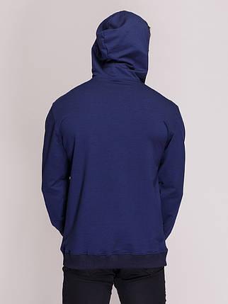 Худи, с капюшоном темно синее, фото 2
