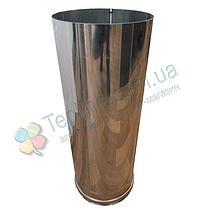 Труба для дымохода d 100 мм; 0,5 мм; 50 см из нержавейки AISI 304 - «Версия Люкс», фото 2