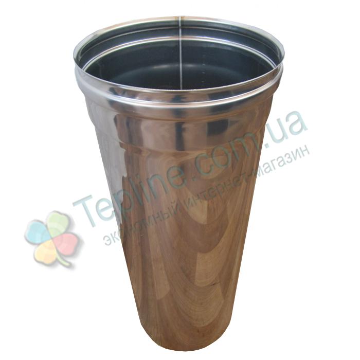 Труба для димоходу d 150 мм; 0,5 мм; 50 см із нержавіючої сталі AISI 304 - «Версія-Люкс»