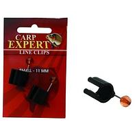 Клипса Carp Expert на удилище для лески Line Clips 11 мм 2шт
