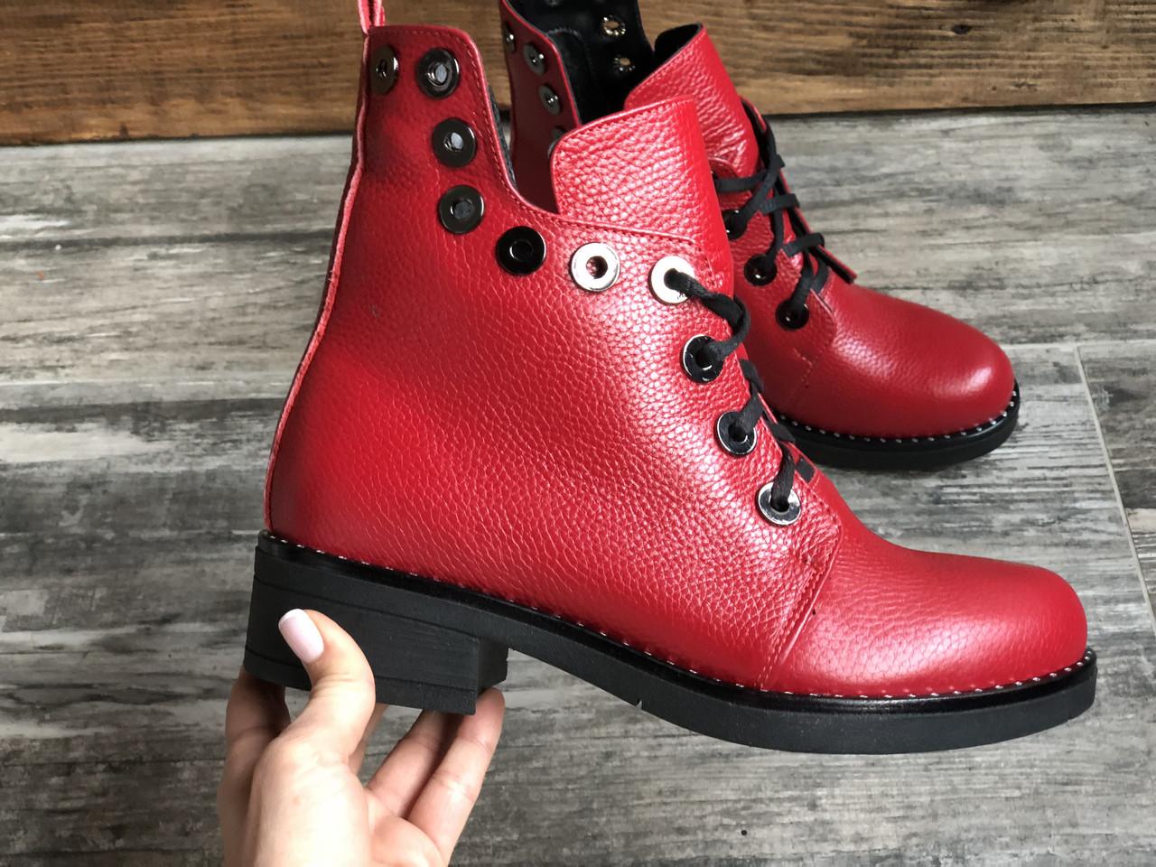 Ботинки №466-2 красный флотар (брук гвозди)