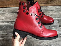 Ботинки №466-2 красный флотар (брук гвозди), фото 1