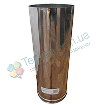 Труба для дымохода d 100 мм; 0,8 мм; 50 см из нержавейки AISI 304 - «Версия Люкс», фото 3
