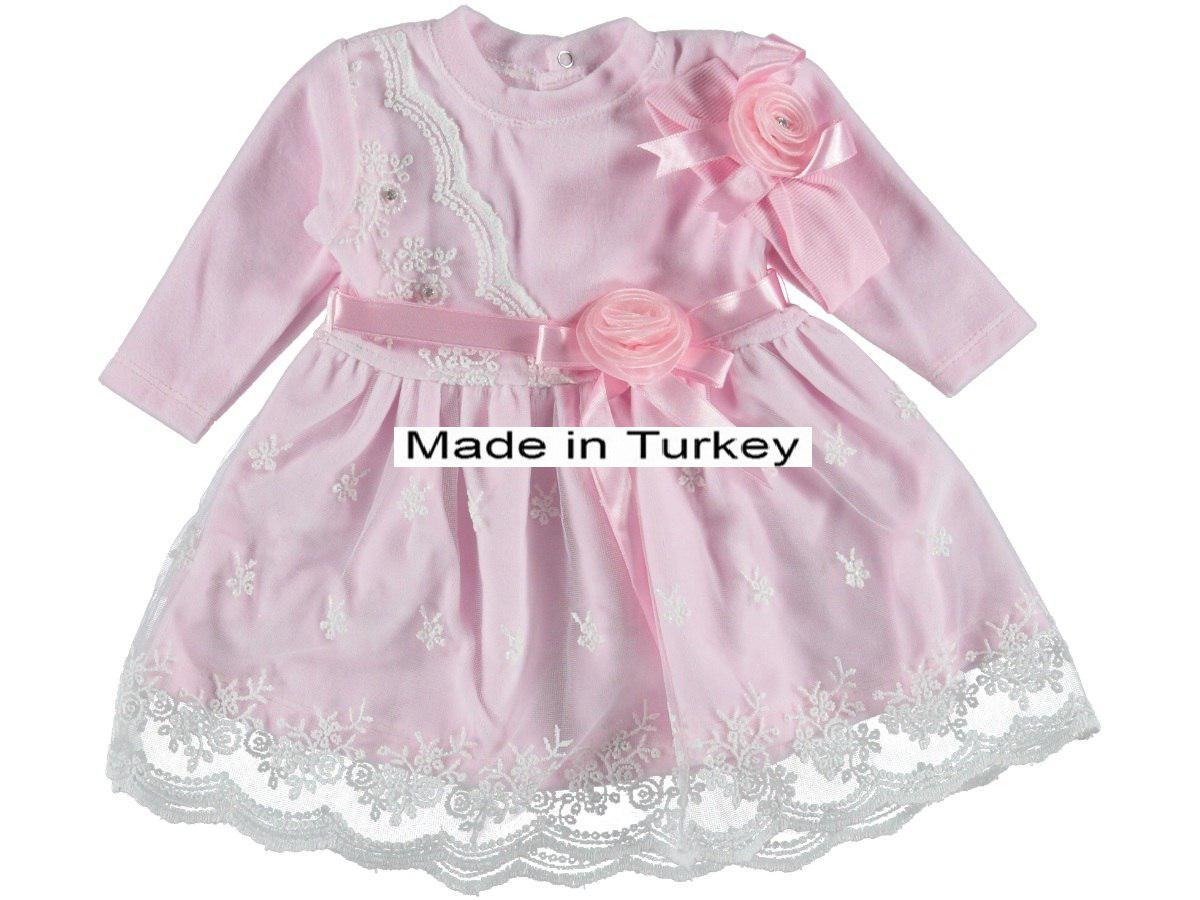 Очень нежное мягкое велюровое платье для девочки на крещение, на праздник