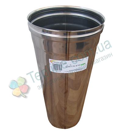 Труба для дымохода d 110 мм; 0,8 мм; 50 см из нержавейки AISI 304 - «Версия Люкс», фото 2