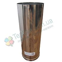 Труба для дымохода d 110 мм; 0,8 мм; 50 см из нержавейки AISI 304 - «Версия Люкс», фото 3