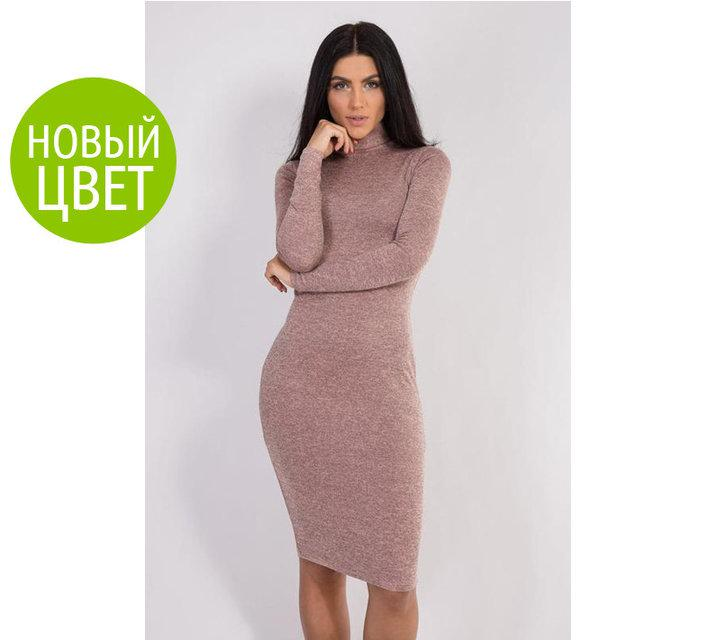 Платье-гольф из ангоры р.42-50 МАКСИ