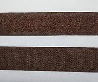 6209 Липучка 2 см (коричневый/серый)