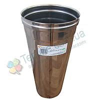 Труба для дымохода d 160 мм; 0,8 мм; 50 см из нержавейки AISI 304 - «Версия Люкс»