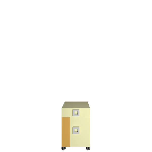 Тумба в дитячу кімнату з ДСП/МДФ Labirynt-20 ваніль+жовтий Blonski