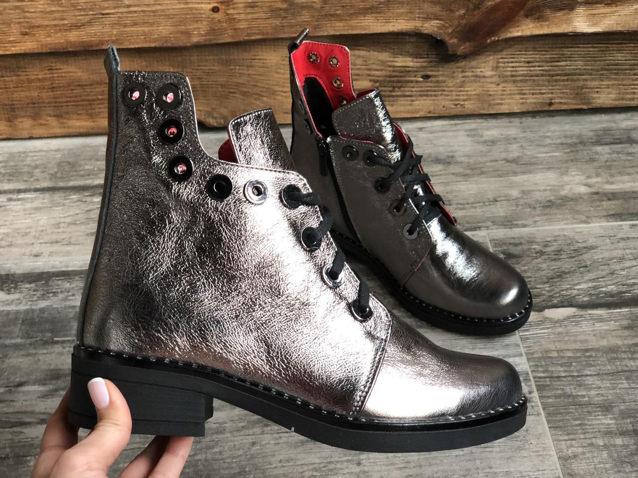 Ботинки №466-4 никель кожа (брук гвозди)