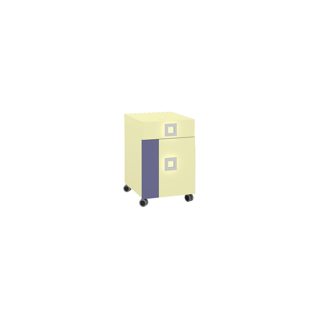 Тумба в дитячу кімнату з ДСП/МДФ Labirynt-20 ваніль+синій Blonski
