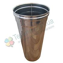 Труба для дымохода d 180 мм; 1 мм; 50 см из нержавейки AISI 304 - «Версия Люкс», фото 2