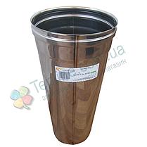 Труба для дымохода d 250 мм; 1 мм; 50 см из нержавейки AISI 304 - «Версия Люкс», фото 3