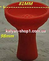 Силиконовая чаша 7 отверстий  для кальяна  цвет красный, фото 1