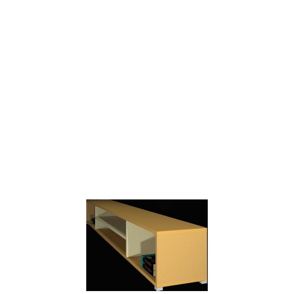 Підлоговий стелаж Labirynt-21 ваніль+жовтий Blonski