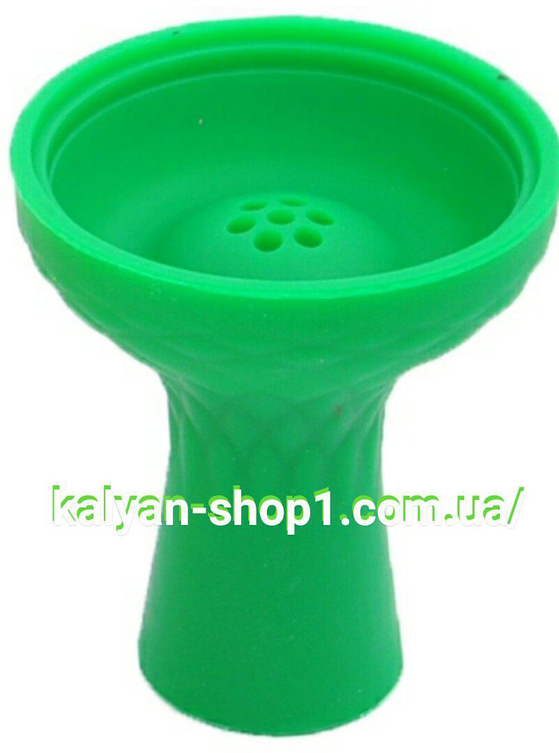 Силиконовая чаша для кальяна Самсарис 7 отверстий  цвет зеленый