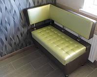 """Стильный диванчик/ лавка """"Леонис"""" с боковой спинкой и утяжкой (под размер кухни)"""