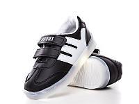 Спортивная обувь оптом. Кроссовки для мальчиков оптом от склада W3 Black/Beige (8 пар, 26-31)
