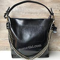 Большая кожаная женская сумка Furla Фурла