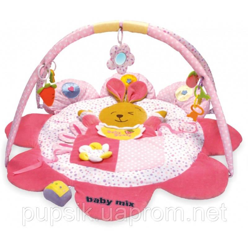 Развивающий коврик Baby Mix ТК/3133С Кролик pink