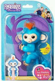 Аналог Ручная обезьяна обезьянка на палец Fingerlings Baby Monkey