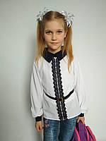 Шифоновая блуза на девочку с поясом