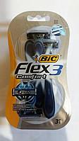 Набор одноразовых бритвенных станков Bic Flex 3 Comfort 3шт в упаковке