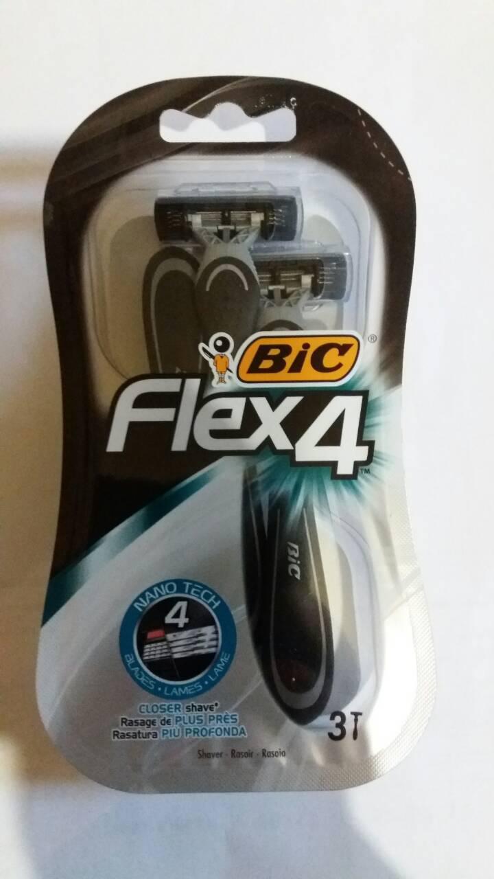 Набор одноразовых бритвенных станков Bic Flex4 Comfort 3шт в упаковке