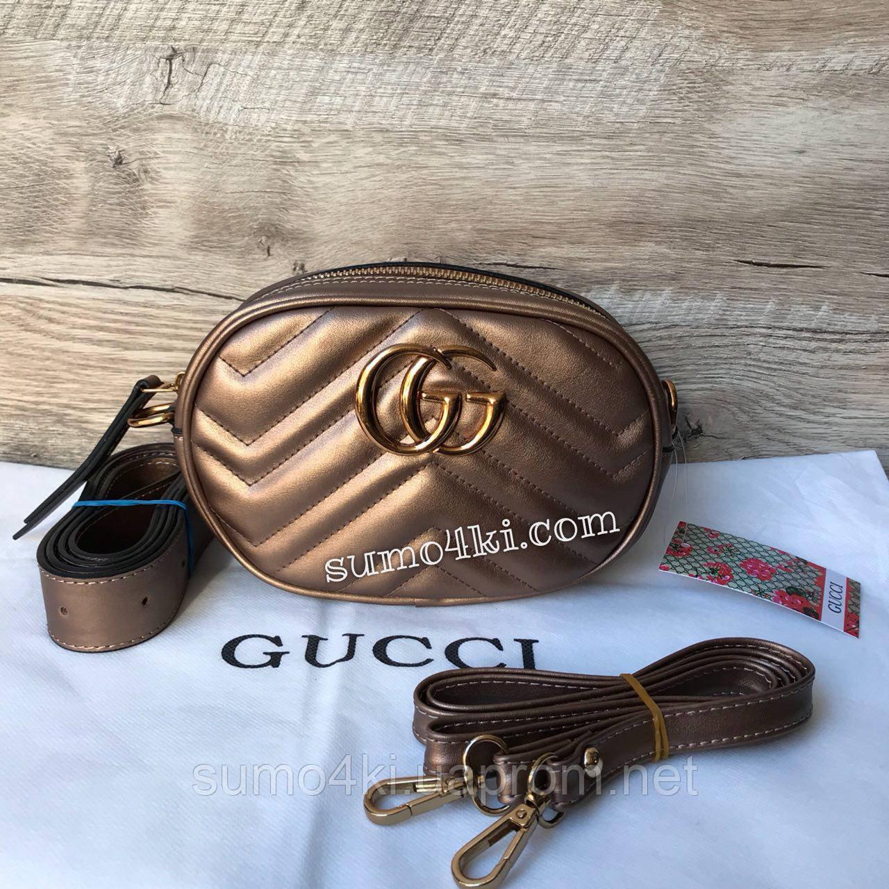 Женская сумка на пояс Gucci Marmont Гуччи - Интернет-магазин «Галерея Сумок»  в 62aa2143224
