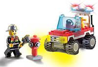 """Конструктор BRICK (LEGO) """"Пожарный джип"""" 62 детали, 901"""