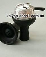 Комплект Силиконовая чаша для кальяна   7 отверстий цвет черный и Kaloud Lotus в упаковке  рифленый