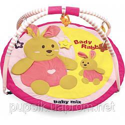 Развивающий коврик Baby Mix TK/3168C Кролики pink