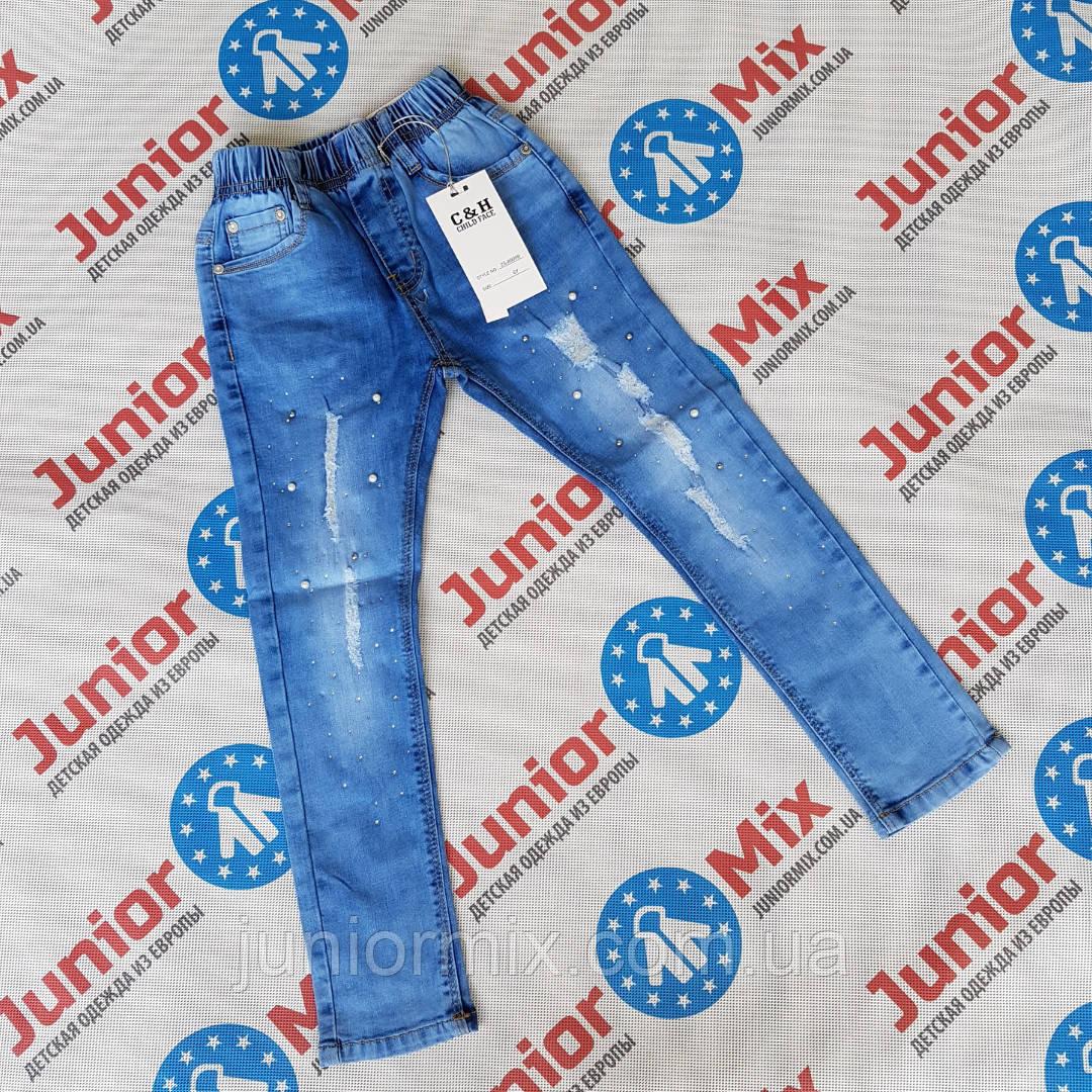 Детские  рваные джинсы для девочек  оптом C&H