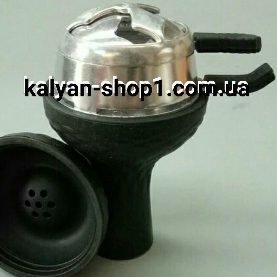 Комплект  силикон чаша самсарис 7 отв черный цвет и Калауд лотос 2 ручки