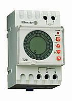 Таймер суточный Т20 цифровой 16А 230В с аккумулятором на DIN-рейку Electro