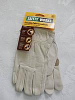 Кожаные рабочие перчатки Safety Works, фото 1