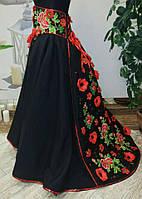 """Юбка украинская """"Ярославна"""", р.146-152 (черного цвета), фото 1"""