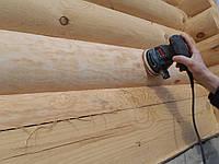 Шлифовка + покраска деревянного дома Харьков, Киев, Одесса, Днепр
